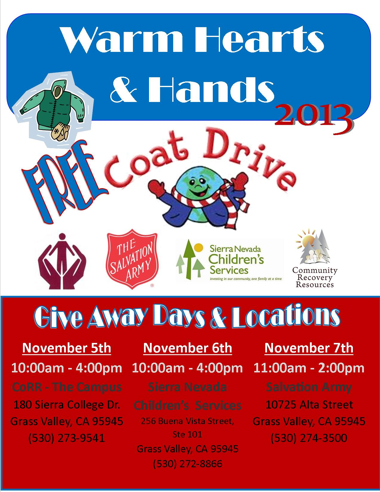 Coat Drive Flyer FINAL blast | Community Recovery Resources