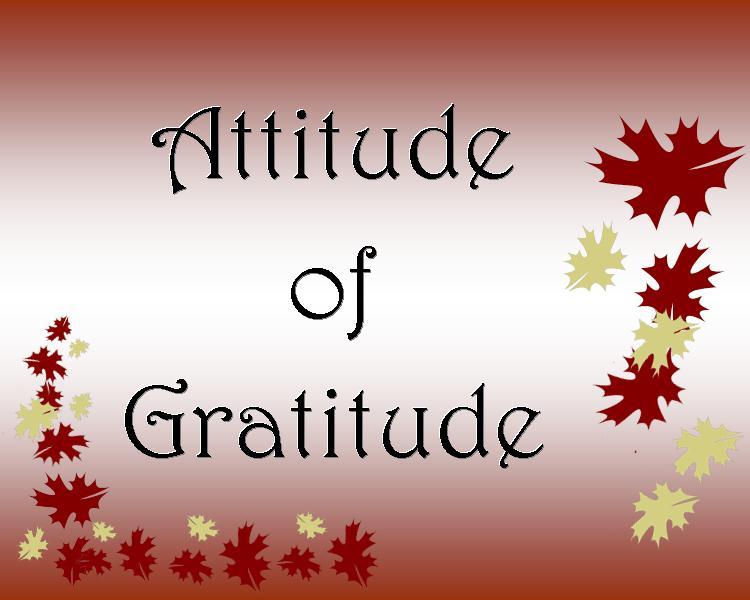 Attitude Of Gratitude Community Recovery Resources