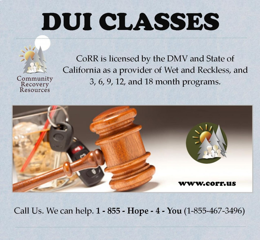 DUI Classes at CoRR