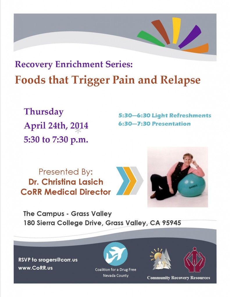 Foods that Trigger Pain and Relapse 4-24-14