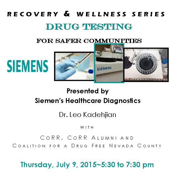Recovery & Wellness Series – Drug Testing  for Safer Communities – July 9