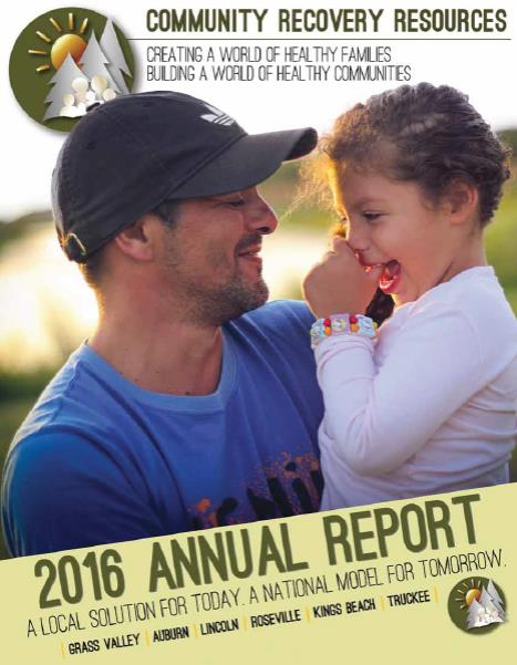 2016 CoRR Annual Report Cover Page
